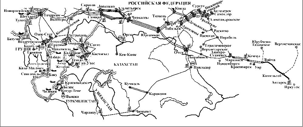 Схема магистральных