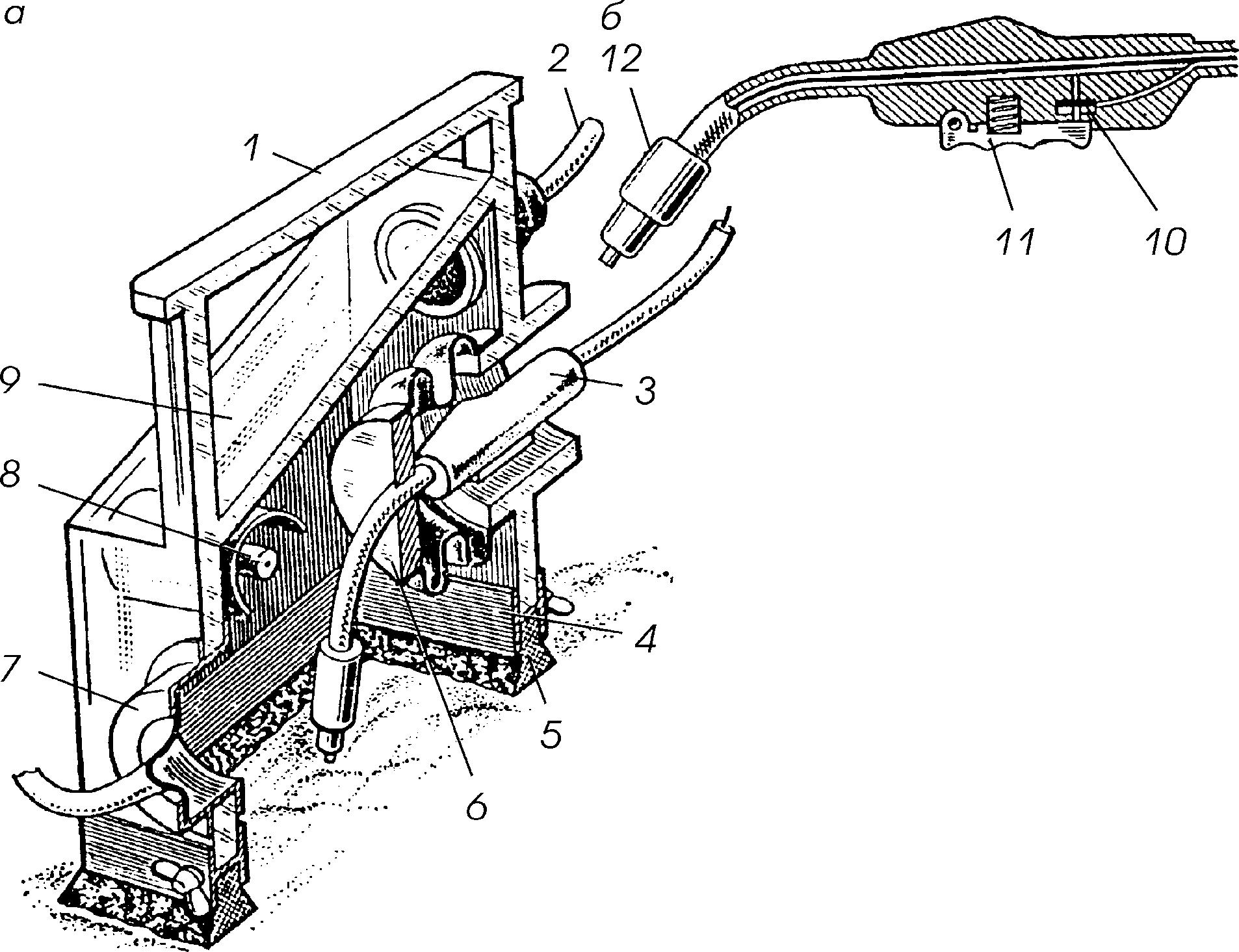 схема сварной передвижной трап с площадкой