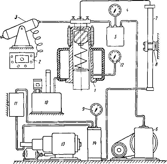 Схема установки АСМ-300М для