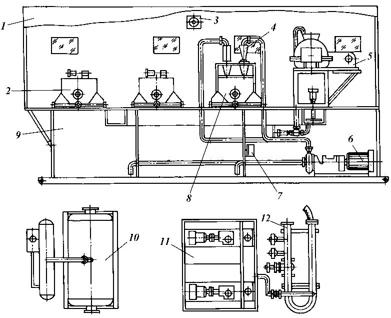 Схема блока очистки приведена